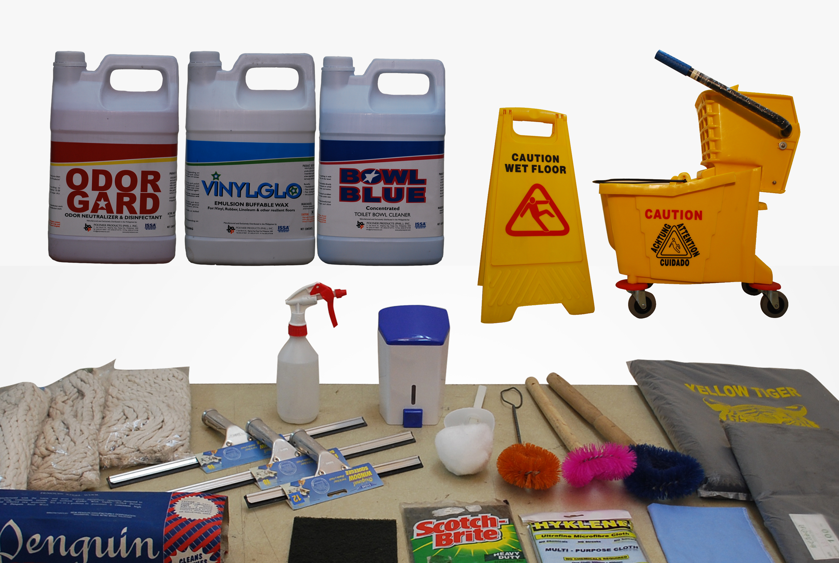 cleaning equipments and chemicals